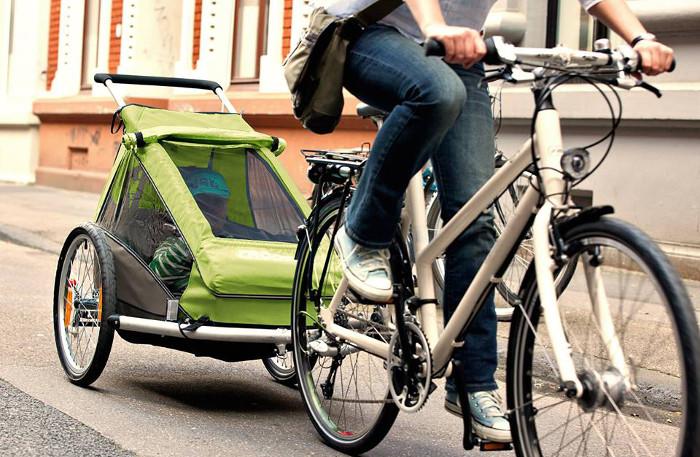 Kindertransport mit dem Fahrrad