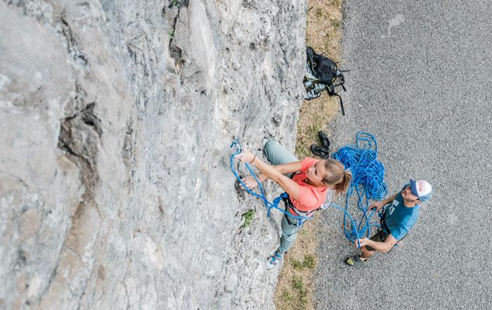 sichern beim klettern