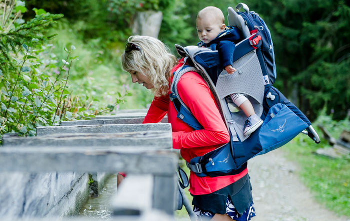 zaino porta bebè osprey